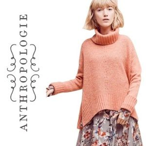 MOTH | Anthro Coral Fireside Turtleneck Sweater